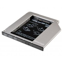 "Адаптер Grand-X для подключения HDD 2.5"" в отсек привода ноутбука SATA/SATA3 Slim 9.5мм (HDC-24N)"