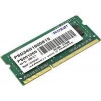 Модуль памяти SODIMM Patriot DDR-IIIL 4Gb 1600MHz PC3-12800