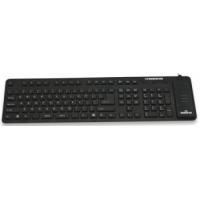 Клавиатура силиконовая Manhattan Roll-Up USB, Black (проводная, полноразмерная, компактная в собранном виде, защита от грязи, пыли и воды)