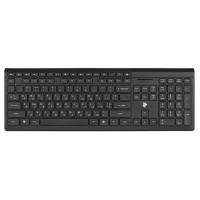 Клавиатура 2E KS210 Slim Wireless Black (2E-KS210WB Тип - беспроводная, интерфейс подключения - USB)