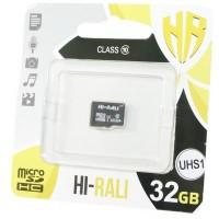 Карта пам'яті Hi-Rali 32GB microSDHC class 10 UHS-I (HI-32GBSD10U1-00)