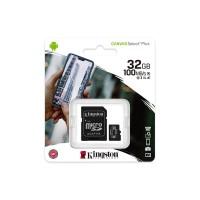 Карта пам'яті  MicroSDHC 32GB UHS-I Class 10 Kingston Canvas Select Plus R100MB/s + SD-адаптер (SDCS2/32GB)