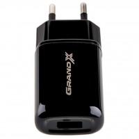Зарядное устройство Grand-X 5V 2.1A USB Black, CH-15B