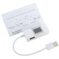 Тестер USB LCDV03 напряжения (4-15V) и тока (0-4A) с проводом, White