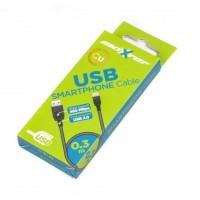 Кабель Maxxter (UB-AMM-0.3M) USB2.0(AM)-MicroUSB2.0(BM), 0.3м