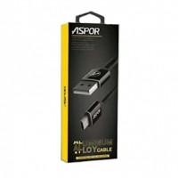 Кабель Aspor A121 USB-Micro USB, 1.2м, чорний (910016)