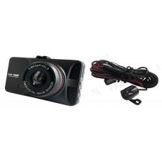 Автомобильный видеорегистратор Tiglon DVR-301 (Камера заднего вида (опционально), Разрешение 1920*1080/30fps,1280*720/60fps, Широкоугольный объектив 140°, Металлический корпус, Просветленная оптика, Чипсет: NT96650+AR0330, 3-дюймовый ЖК экран, Встроенный
