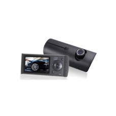 Автомобильный видеорегистратор Tiglon TCG-002 ( Два объектива (+ салонная камера), Разрешение 1280*480/30fps, Широкоугольный объектив 120°, Металлический корпус, 2.7-дюймовый ЖК экран, Чипсет: SQ + OV9712 + 4W, Встроенный G-сенсор, Система GPS, Выход: AV