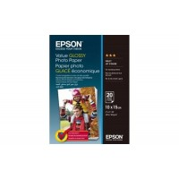 Фотобумага Epson Value Glossy Photo Paper, глянцевая, 183g/m2, 10х15, 20л (C13S400037)