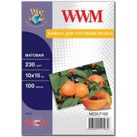 Фотобумага WWM 10x15 M230.F100