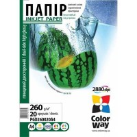 Фотобумага ColorWay A4 (ПГД260-20) PGD260020A4