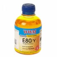 Чернила WWM Epson L800, Yellow, E80/Y, 200г.